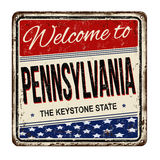 Welcome to Pennsylvania vintage rusty metal sign Stock Images