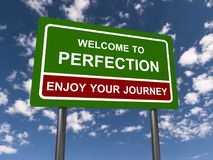 Free Welcome To Perfection Stock Photo - 122118730