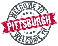 Welcome to Pittsburgh stamp. Welcome to Pittsburgh round grunge stamp isolated on white background. Pittsburgh royalty free illustration