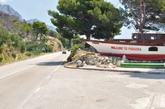 Welcome to Podgora Royalty Free Stock Image