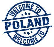 Welcome to Poland stamp Royalty Free Stock Photos
