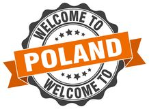 Welcome to Poland seal Stock Images
