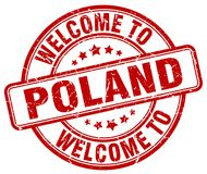 Welcome to Poland stamp Stock Photo