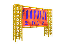 Welcome  to Poland � Ukraine 2012. 3d symbols  and attributes  European football 2012 Royalty Free Stock Photography