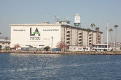 Welcome to The port of Los Angeles, americas port, Stock Image