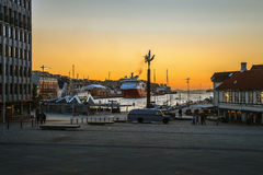 Welcome to port of Stavanger Stock Photography