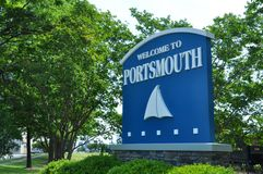 Welcome to Portsmouth Sign Royalty Free Stock Image