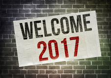 Welcome 2017 Royalty Free Stock Photos