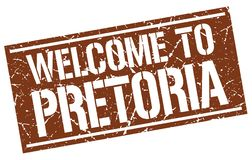 Welcome to Pretoria stamp Royalty Free Stock Photo