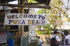 Welcome to puka beach. Royalty Free Stock Image