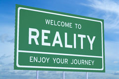 Welcome to Reality concept Royalty Free Stock Photo