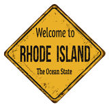 Welcome to Rhode Island vintage rusty metal sign Royalty Free Stock Image