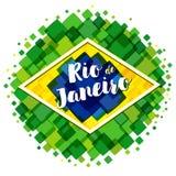 Welcome to Rio de Janeiro vector image vector illustration