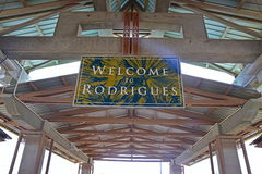 Welcome to Rodrigues Island, Mauritius Royalty Free Stock Photo