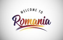 Welcome to Romania stock images
