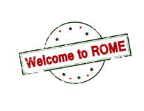 Welcome to Rome Stock Image