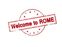Welcome to Rome Stock Photo