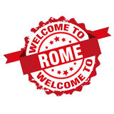 Welcome to Rome stamp Royalty Free Stock Image