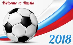 Welcome to Russia greeting background design Royalty Free Stock Image