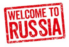 Welcome to Russia Stock Photo