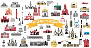 Welcome to Russia. Vector Illustration. Stock Photography