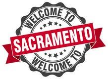 Welcome to Sacramento seal. Welcome to Sacramento round vintage seal Royalty Free Stock Image