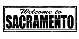Welcome to Sacramento. Stamp with text welcome to Sacramento inside,  illustration Stock Image