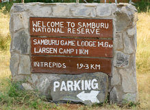Welcome to Samburu sign Royalty Free Stock Photos