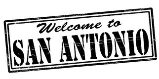 Welcome to San Antonio. Stamp with text welcome to San Antonio inside,  illustration Stock Photography