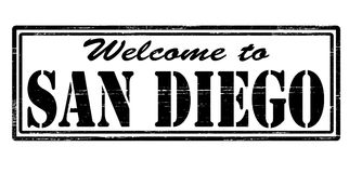 Welcome to San Diego. Stamp with text welcome to San Diego inside,  illustration Royalty Free Stock Photo