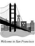 Welcome to San Francisco Royalty Free Stock Photos