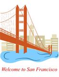 Welcome to San Francisco Stock Image