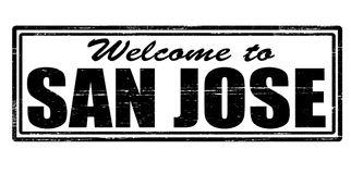 Welcome to San Jose. Stamp with text welcome to San Jose inside,  illustration Stock Photos