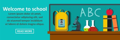 Welcome to school banner horizontal concept Royalty Free Stock Images
