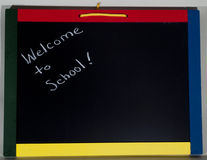 Welcome to school on a blackboard Royalty Free Stock Photography