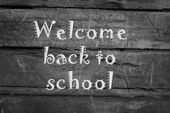 Welcome to school blackboard Royalty Free Stock Photo