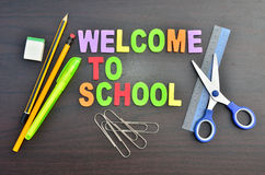 Welcome to school concepts Stock Image