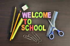 Welcome to school concepts Royalty Free Stock Photo