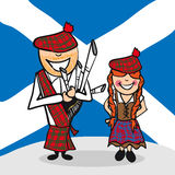 Welcome to Scotland people Royalty Free Stock Photos