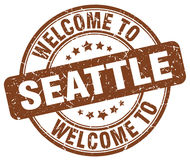 Welcome to Seattle brown round stamp. Welcome to Seattle brown round vintage stamp royalty free illustration