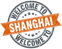 Welcome to Shanghai stamp. Welcome to Shanghai round grunge stamp isolated on white background. Shanghai. welcome to Shanghai royalty free illustration