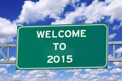 Welcome to 2015 sign Stock Photo