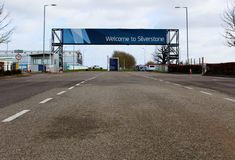 Welcome to Silverstone Circuit Sign stock photo