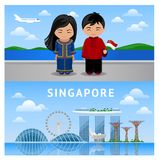 Welcome to Singapore. stock illustration