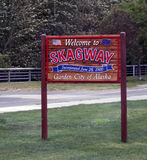 Welcome To Skagway Sign Stock Images