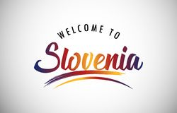Welcome to Slovenia stock images