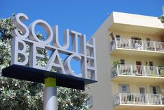 Welcome to South Beach Stock Photo