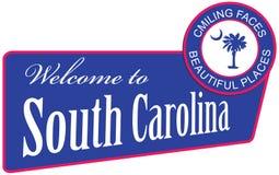 Welcome to south carolina Stock Image