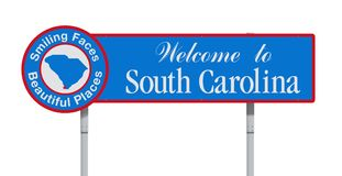 Welcome to South Carolina road sign Stock Photo