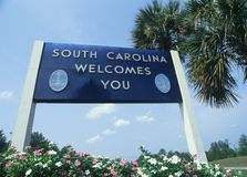 Welcome to South Carolina Sign Royalty Free Stock Images
